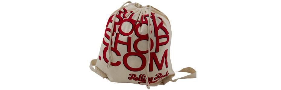 Beispiel für einen Rucksack aus Baumwolle, individuell bedruckt