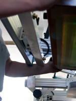 Druckschablone vorn einsetzen