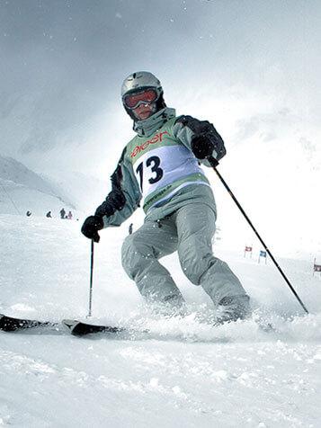Startnummernleibchen Skisport Beispiel