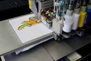 Digitaldruck auf weisse Baumwolltasche