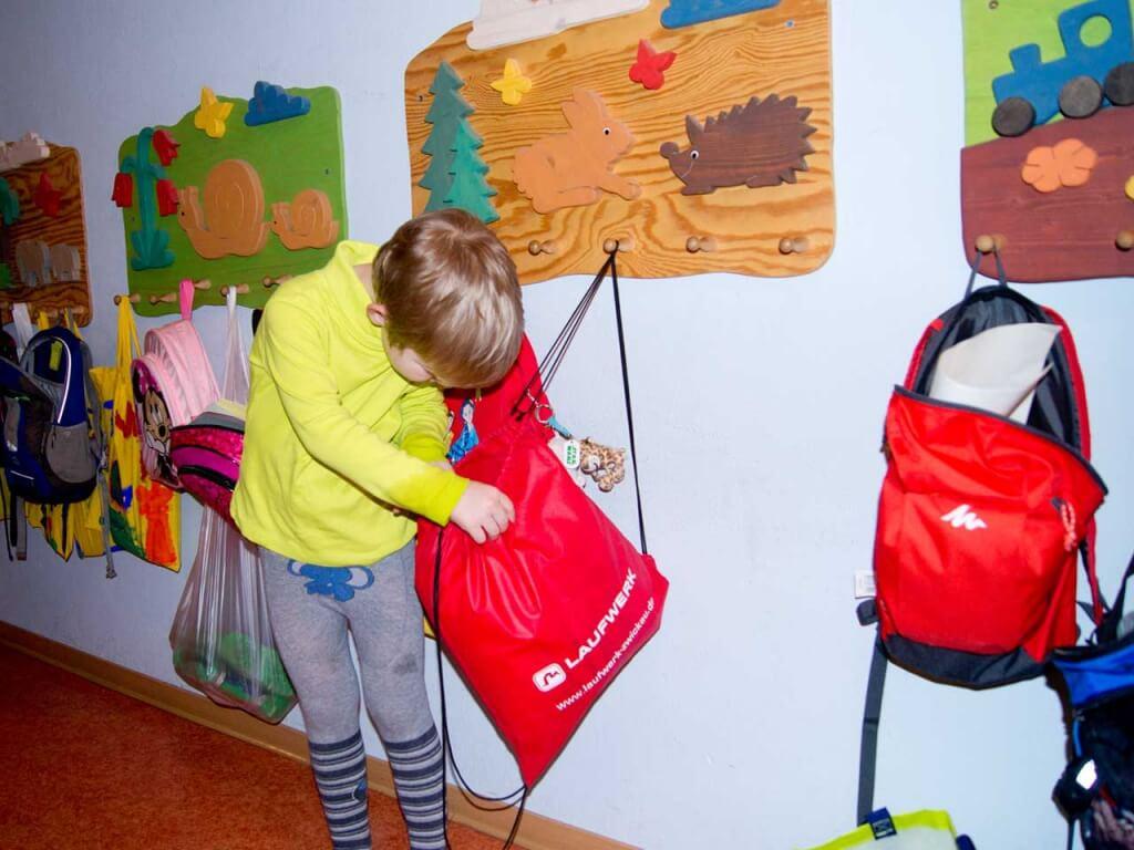 Turnbeutel im Kindergarten